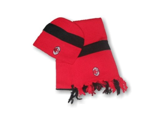 WOOLY AND SCARF SET : RED of AC MILAN