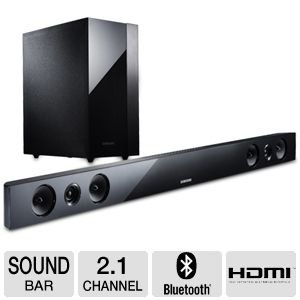 "Samsung 40"" 280-Watt 2.1-Channel Soundbar And Active Wireless Subwoofer Speaker System With Bluetooth, 3D Sound Plus, Audio Return Channel, Hdmi Input And One Hdmi Output, Black Finish,"