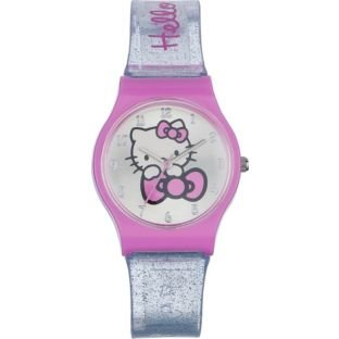 Peque Hello Kitty Glitter Gel Strap Watch
