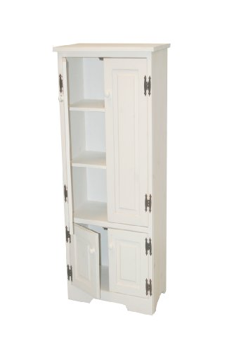 Black friday tms extra tall pine cabinet white sale for Black friday deals on kitchen cabinets
