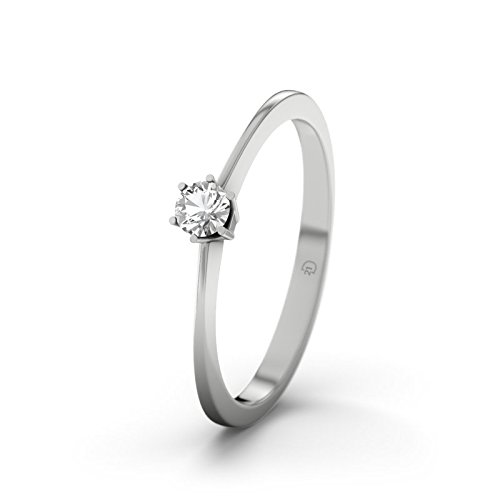 21DIAMONDS Women's Ring Auckland White Topaz Diamond Engagement Ring - Silver Engagement Ring