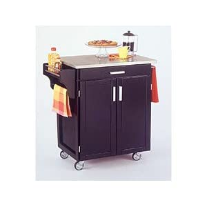 Black Cart with Stainless Steel Top