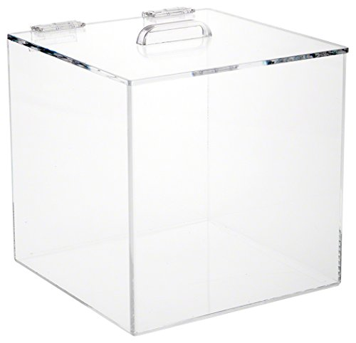 Plymor Brand Acrylic Display Box Case With Hinged Lid, 8