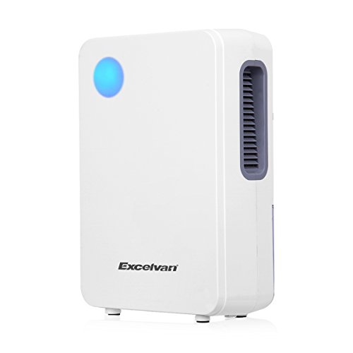 Excelvan 2L Portable Semiconductor Air Dehumidifier Ultra-low Noise Environment-friendly Air Purify Closet Kitchen Cars,White (12 V Dehumidifier compare prices)