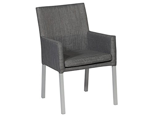 IBIZA Dining Sessel Gartensessel Textilene Grau