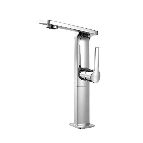 Kraus KEF-15400CH Novus Single Lever Vessel Bathroom Faucet, Chrome