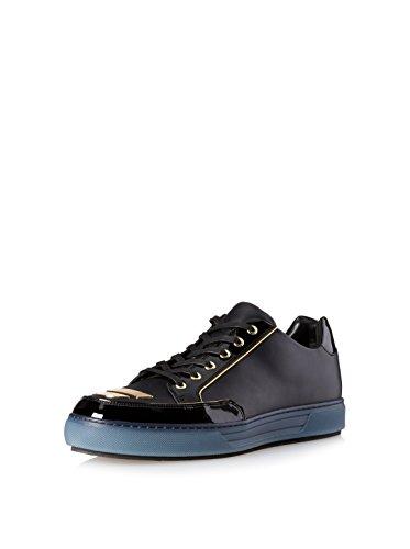 Alejandro Ingelmo Men's Jeddi Low-Top Sneaker, Black/Gold, 13 M US