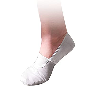 SODIAL(R) White Ladies Ballet Dance Dancing Soft Shoes US Sz 6.5