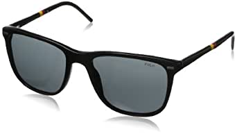 Polo - Lunette de soleil PH 4064 Casual Preppy Wayfarer - Homme, 500187, Shiny Black, Gray