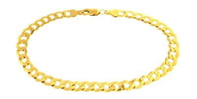 Carissima 9ct Yellow Gold Diamond Cut Curb Bracelet 22.5cm/9""