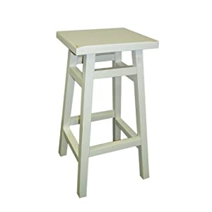 Carolina Cottage Thomas Tavern Stool, 30-Inch, Antique White