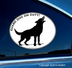 German Shepherd Sticker Decal Guard Dog On Duty Dog Sticker For Cars Laptops Walls front-72823