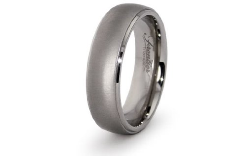 Titanium Half Dome Wedding Ring 7mm (Size 13) Available Size: 6, 7, 8, 9, 10, 11, 12, 13