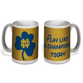 Notre Dame Fighting Irish Play Like A Champion 15 Oz Ceramic Mug