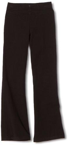 Danskin Big Girls' Shirred Waist Bootleg Pant, Black, Large (12-14) (Danskin Girls Pants compare prices)