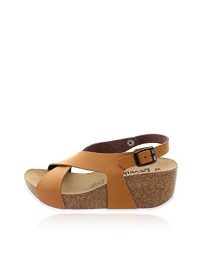 Bearpaw Sandalo Zeppa Roma [Cuoio]