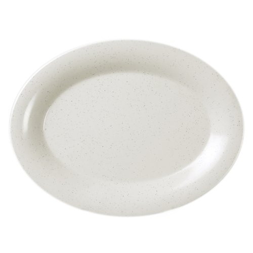 Excellanté Tribune Melamine Collection 11-1/2 By 8-Inch Oval Platter 3/4-Inch Deep, 12-Piece