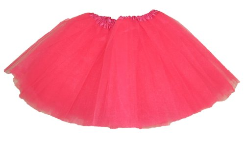 Hairbows Unlimited Girls' Dance Tutu One Size Neon Pink front-261897