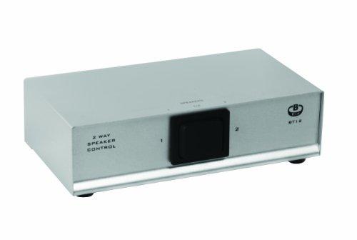 B-TECH-BT12S-Lautsprecher-Wahlschalter-mit-Schraubklemmen-2-wege-silber