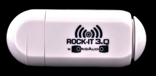 Origaudio Universal Rock-it 3.0 Portable Vibration Speaker W/ Rechargeable Battery (3.5mm) - White