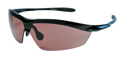 XS Sport Sunglasses UV400 Unbreakable Protection for Cycling, Ski or Golf (Black & Amber)