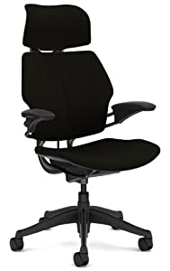 Freedom Chair by Humanscale - Headrest - Standard Duron Arms - Graphite Frame - Foam seat - Black Wave