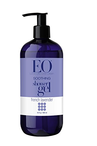 EO Shower Gel, French Lavender, 16-Ounce Bottles (Pack of 2)