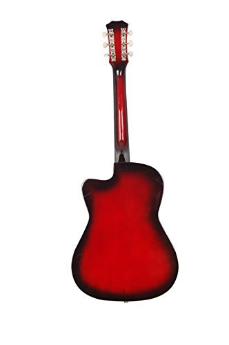 Jixing JXNG 6 Strings Acoustic Guitars With Combo (Red Sunburst) at Rs.2399 – Amazon