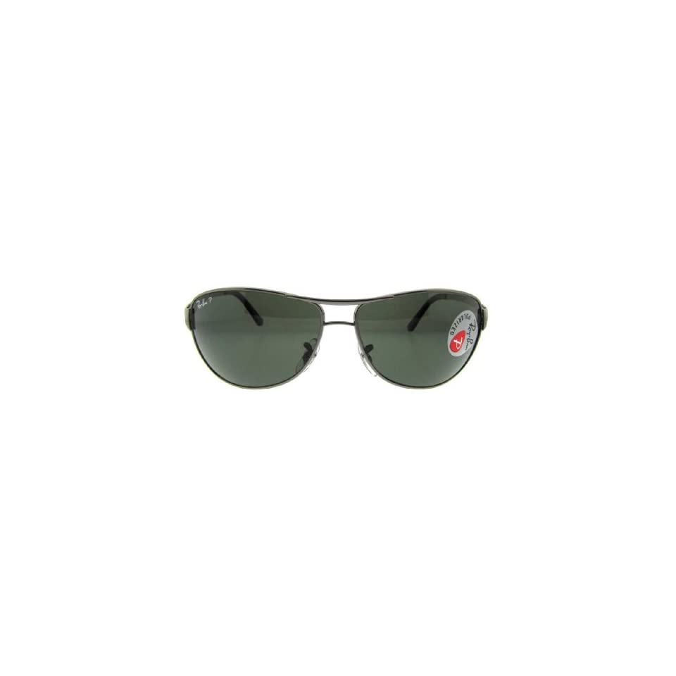 fdcffbd7aa Ray Ban RB3342 Gunmetal Crystal Green Polarized 004 58 60mm Sunglasses