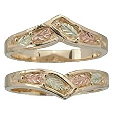 buy Black Hills Gold Wedding Ring Guard From Coleman - Size 7.5
