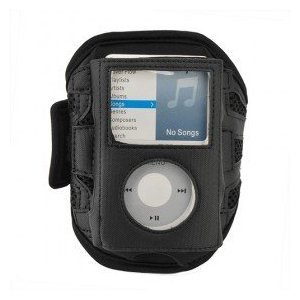 Navitech Black Neoprene Water Resistant Sports Gym, Jogging / Running Armband Case for the Apple iPod Classic 80GB / 120GB / 160GB + iPod Video 30GB / 60GB / 80GB models
