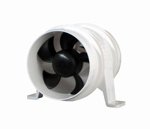 Attwood Quiet Blower (White, 4-Inch) (Inline Fan Quiet 4 Inch compare prices)