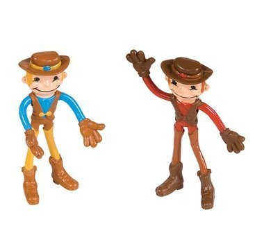 Bendable Cowboy Toys (Pack of 12) - 1