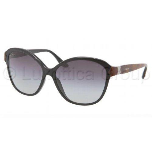 39e366c6b5a06 Bvlgari 8092B 879 8G Black and Brown 8092b Cats Eyes Sunglasses