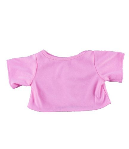 "Pink T-Shirt Outfit Teddy Bear Clothes Fits Most 14"" - 18"" Build-a-bear, Vermont Teddy Bears, and Make Your Own Stuffed Animals - 1"