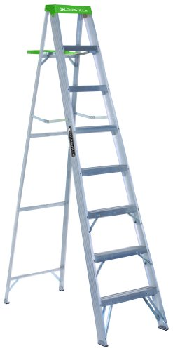 Louisville Ladder AS4008 225-Pound Duty Rating Aluminum Stepladder, 8-Foot