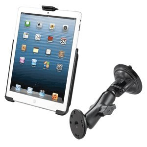 Ram Mount Heavy Duty Suction Cup Windscreen Mount for iPad Mini. Dedicated Cradle for use without iPad Case or... Black Friday & Cyber Monday 2014