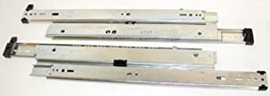 Knape & Vogt Kv8520 P18 18 In. Full Extension 175 Lb. Drawer Slides For Up To 42 In. Lateral Files - Anochrome