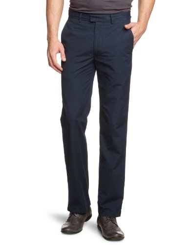 Dockers D1 Poplin Straight Men's Trousers Navy W36 INXL34 IN