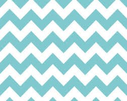 Robin's Egg Blue & White CHEVRON Stripe Tissue Paper - 20
