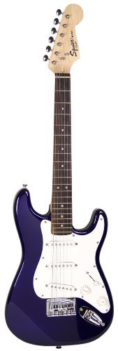 compare prices squier by fender limited edition mini strat electric guitar blue. Black Bedroom Furniture Sets. Home Design Ideas