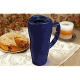 20 oz. Microwavable Ceramic Travel Mug Cobalt Blue