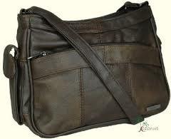Sofia Leather Shoulder Grab Handbag, Brown