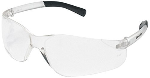 0e3bf33e07a8e Crews BK210 BearKat Polycarbonate Clear Lens Safety Glasses with Non-Slip  Hybrid Black Temple Sleeve