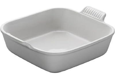 "Le Creuset Heritage Stoneware 8"" Square Dish, White"