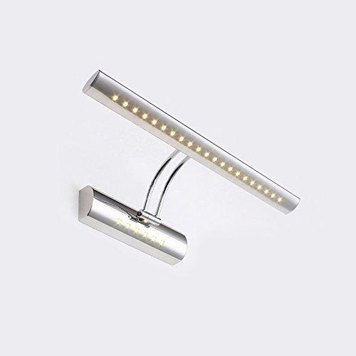 CMYK® 5W AC110-240V Plafoniera Lampada Bianco Caldo Specchio 21 LED SMD 5050 Luce Applique con interruttore Acciaio Inox®