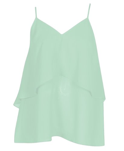 Plus Size Mint Country Chiffon Top --Size: 1X Color: Mint