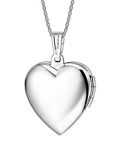 Tikiville 316L acciaio inossidabile Ciondolo Portafoto a forma di cuore clavicola collana rosa