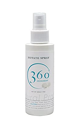 360deodorant Hotate Spray (Natural Scallop Shell) 120ml / 5.1oz. Unscented (Pack of 10) for Shoes, Clothes, Curtain, Sofa, Bed, Toilet, Wash basin, Inside of a car, Pet goods.