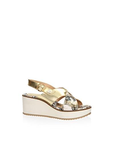 Desigual Keil Sandalette Alexia 4 goldfarben/weiß